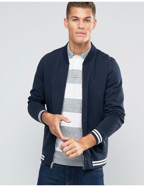 Abercrombie and Fitch | Abercrombie Fitch Sweat Bomber Jacket Tipped In