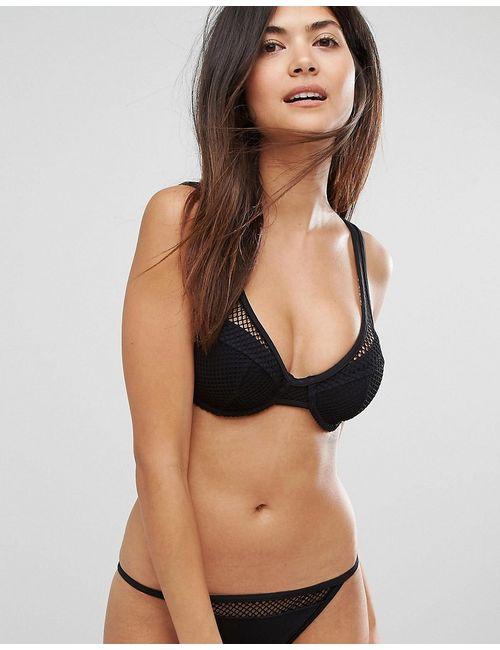 Asos | Fuller Bust Exclusive Fishnet Overlay Plunge Bikini