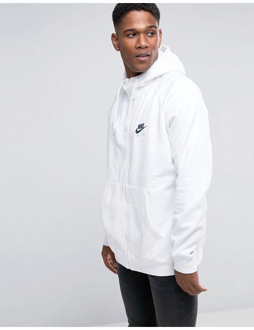 Nike   Мужское Белое Худи На Молнии 809056-100 Белый