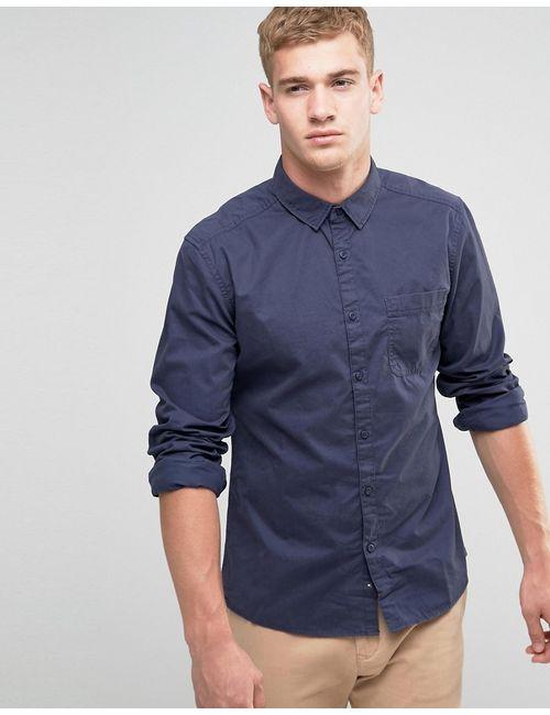 Esprit | Мужская Рубашка Классического Кроя Из Хлопка С Начесом