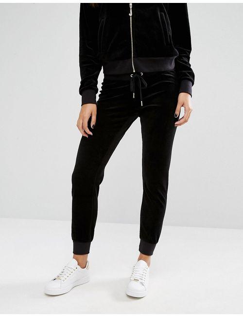 Juicy Couture | Велюровые Джоггеры Bling Угольно-Черный