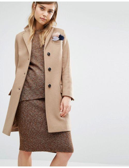 GLOVERALL | Женское Классическое Пальто Chesterfield Кэмел