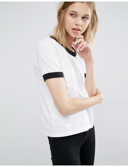 Dr. Denim | Dr Denim Ringer T-Shirt Белый