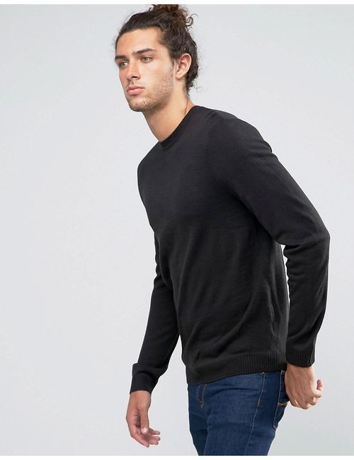 Asos | Crew Neck Jumper In Black Черный