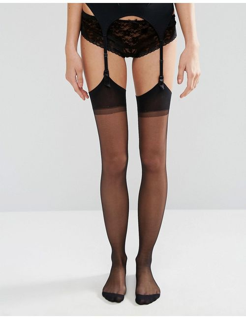 Jonathan Aston | Seduction Set Stockings And Suspender Черный