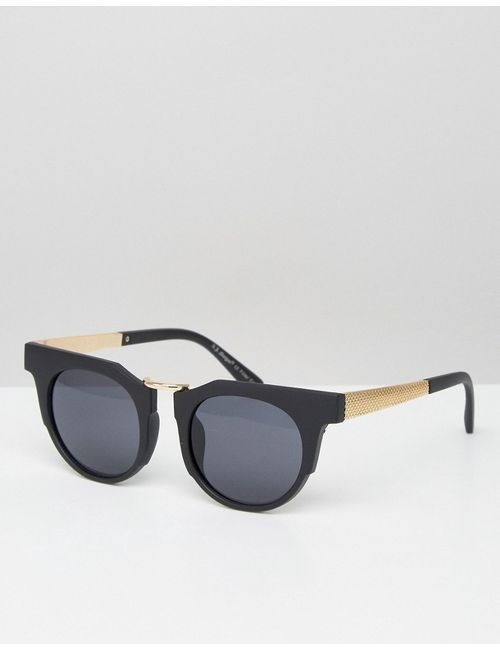 AJ Morgan | Round Sunglasses With Chunky Frame Черный