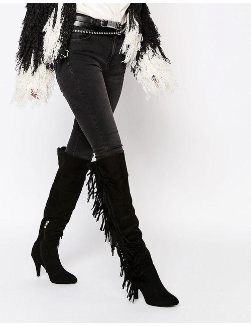Glamorous | Женские Сапоги На Высоком Каблуке С Бахромой
