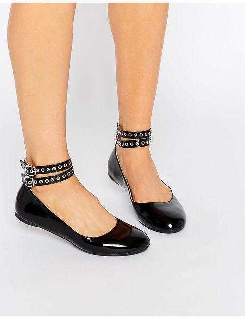 Daisy Street | Женские Черные Туфли На Плоской Подошве Черный