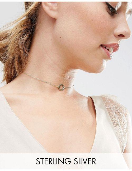 Asos | Ожерелье-Чокер Из Позолоченного Серебра С Филигранными Дисками