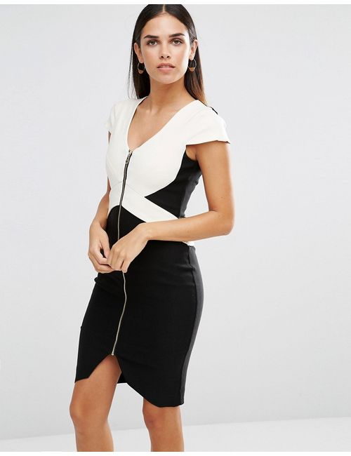 Vesper | Монохромное Платье-Футляр На Молнии Черный