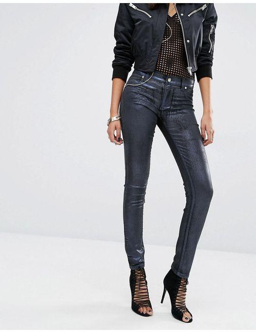 Versace | Женские Зауженные Джинсы С Классической Талией И Покрытием