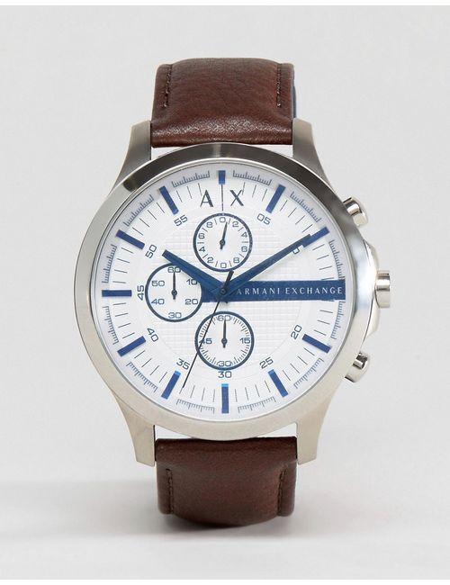 ARMANI EXCHANGE | Часы-Хронограф С Коричневым Кожаным Ремешком Ax2190 Коричневый