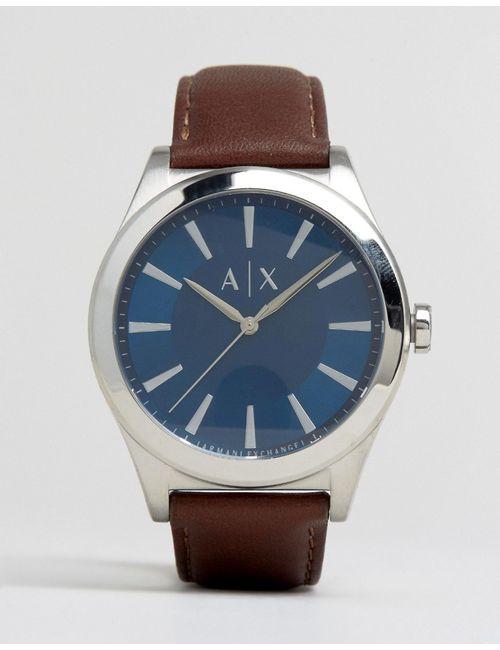 ARMANI EXCHANGE | Мужские Часы С Коричневым Кожаным Ремешком Ax2324