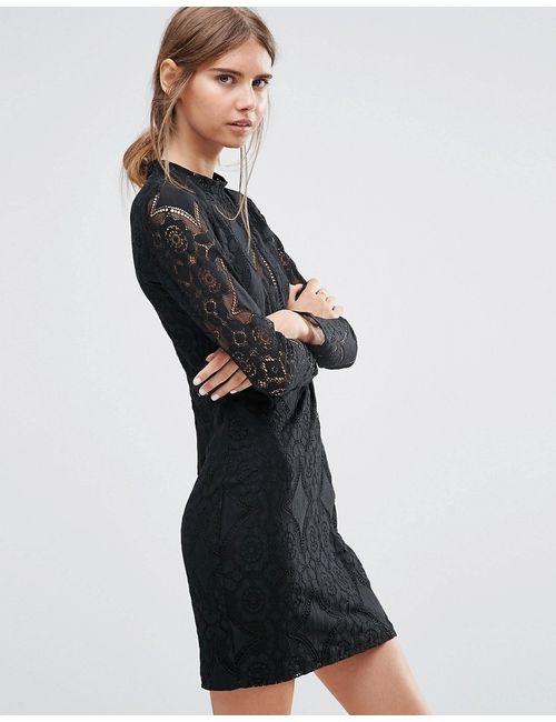 Love & Lies | Женское Черное Кружевное Платье Adder