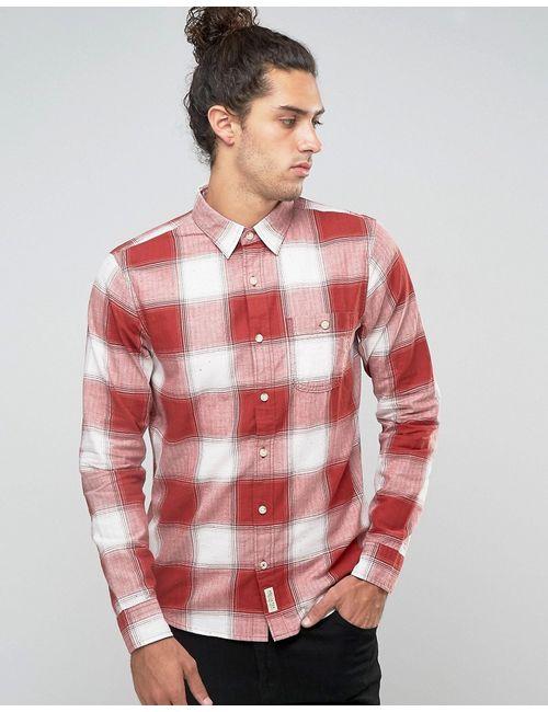 Hollister | Мужская Фланелевая Рубашка Узкого Кроя На Пуговицах В