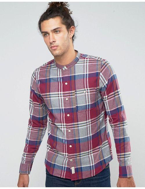 Hollister | Мужская Фланелевая Рубашка На Пуговицах Узкого Кроя В