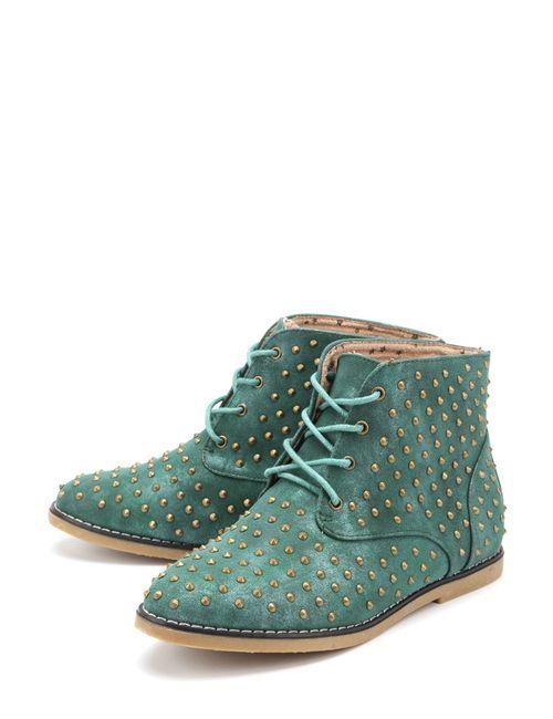 Yaro | Женские Зелёные Ботинки