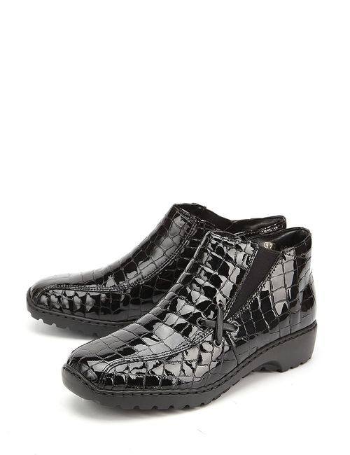Rieker | Женские Чёрные Ботинки