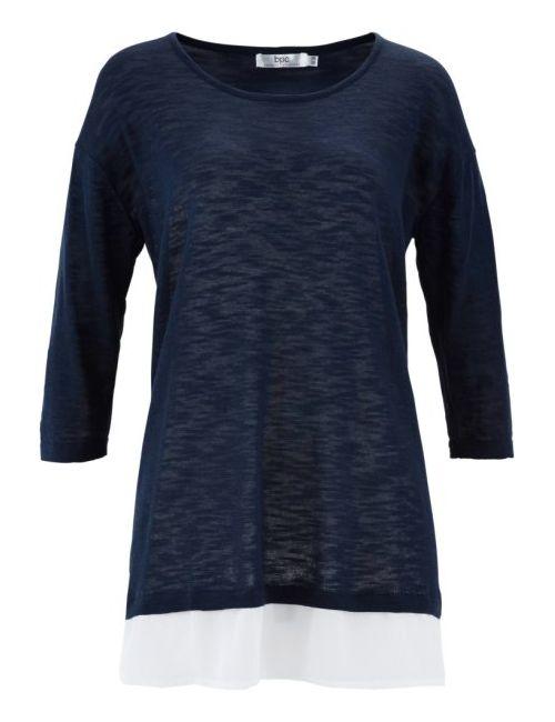 bonprix | Женский Пуловер 2 В 1 Из Пряжи Фламе