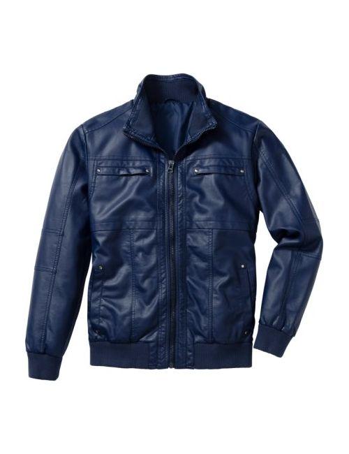 bonprix | Мужская Чёрная Куртка Из Искусственной Кожи