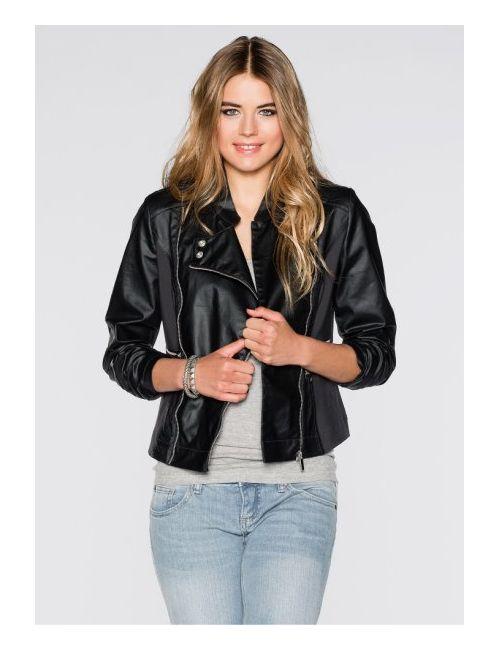 bonprix | Женская Серая Байкерская Куртка С Покрытием