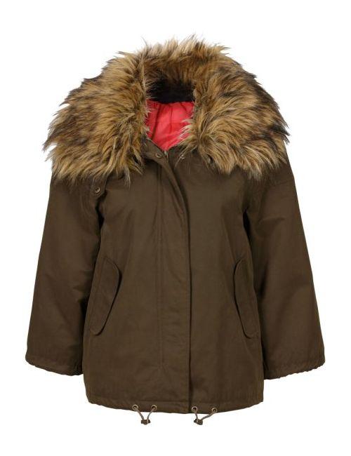 bonprix   Женская Чёрная Куртка С Воротником Из Искусственного Меха