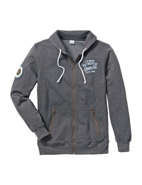 bonprix | Мужская Меланжевый Индиго Трикотажная Куртка Regular Fit