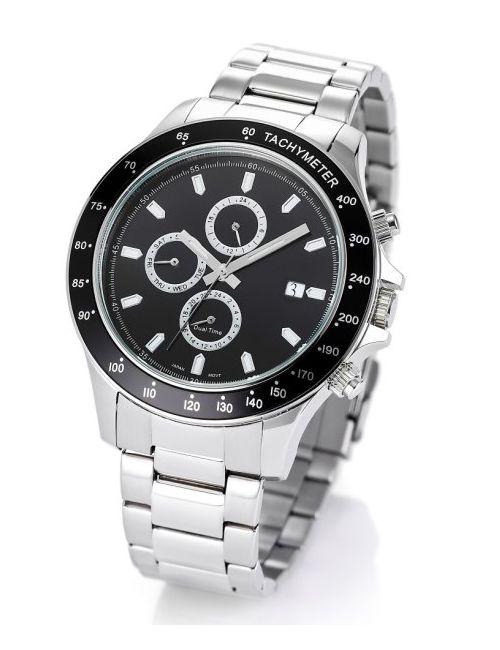 bonprix | Мужские Чёрные Мужские Часы На Металлическом Браслете