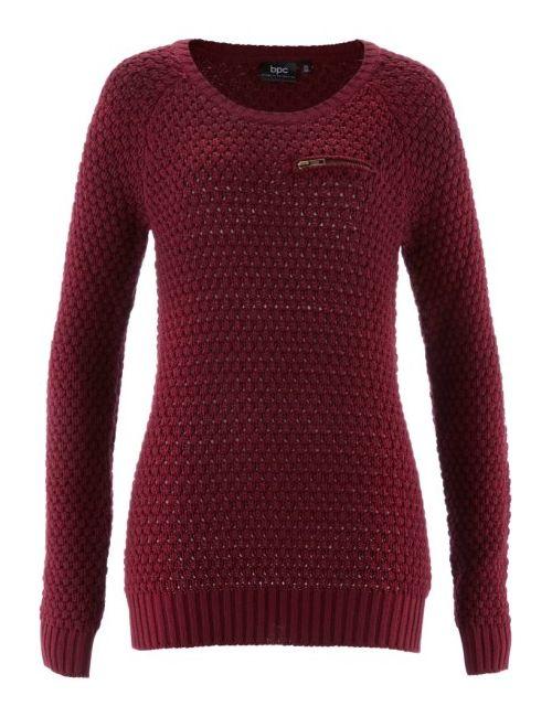 bonprix | Женский Чёрный Пуловер С Карманом На Груди