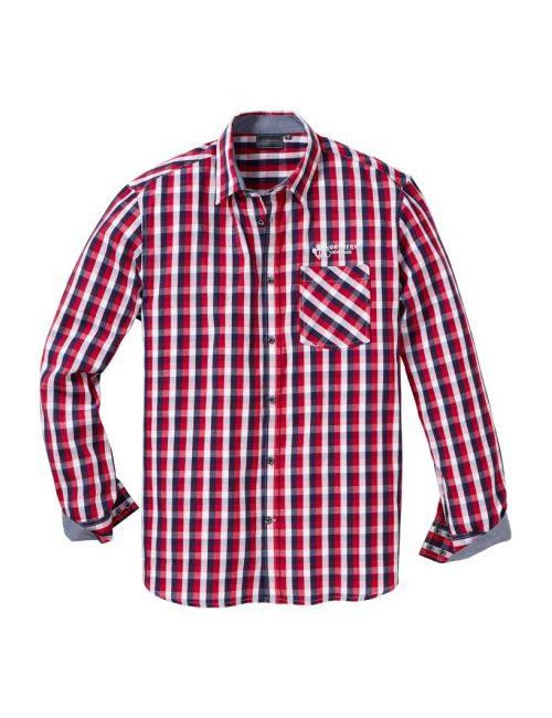 bonprix   Мужская Синяя Клетчатая Рубашка Regular Fit