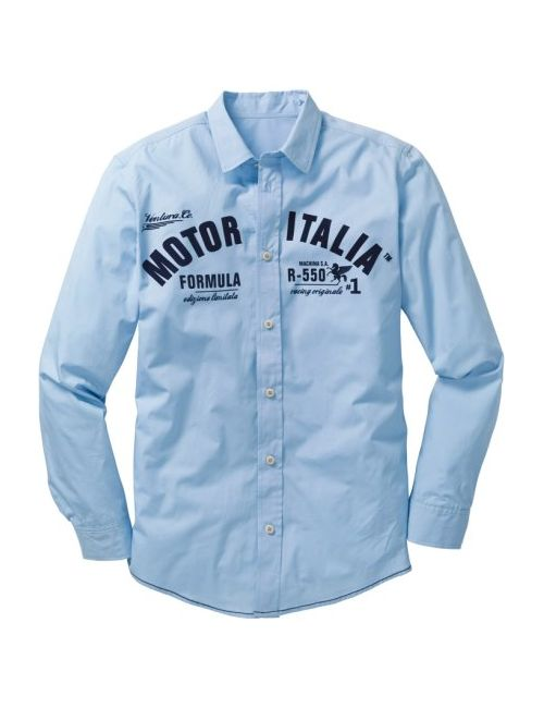 bonprix | Мужская Серая Рубашка Regular Fit С Длинным Рукавом