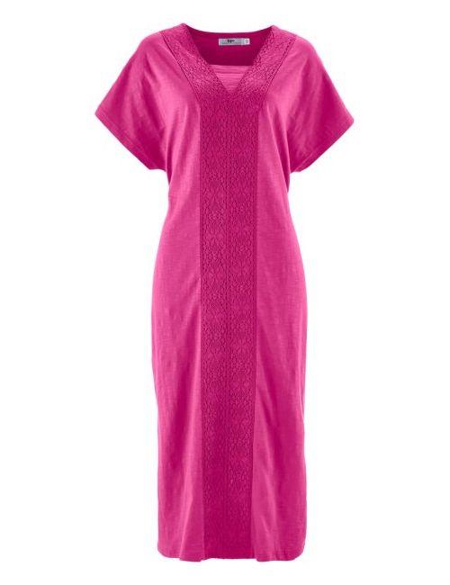 bonprix | Женское Чёрное Платье Из Трикотажа Фламе
