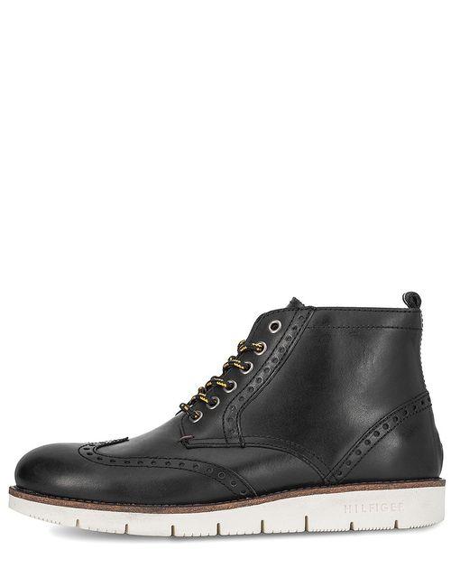 Tommy Hilfiger | Мужские Чёрные Ботинки