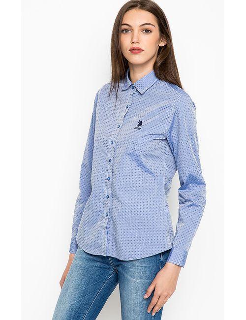 U.S. Polo Assn.   Женская Синяя Рубашка