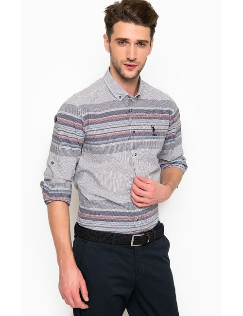 U.S. Polo Assn. | Мужская Синяя Рубашка