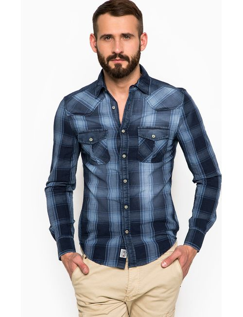 Alcott | Мужская Синяя Рубашка