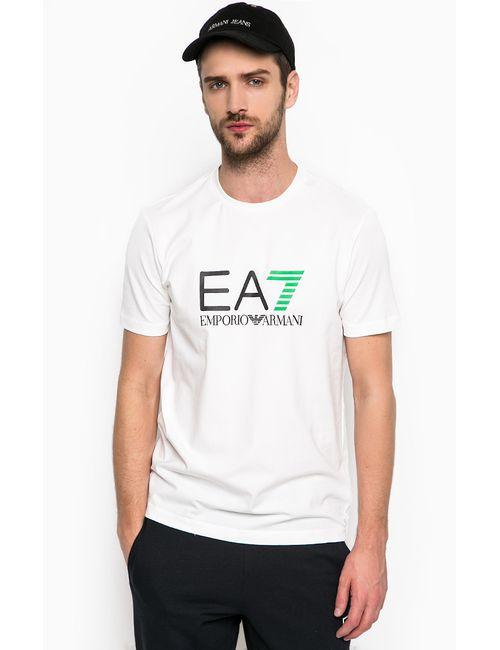 EA7 | Мужская Белая Футболка