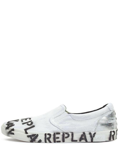 Replay | Мужские Белые Слипоны