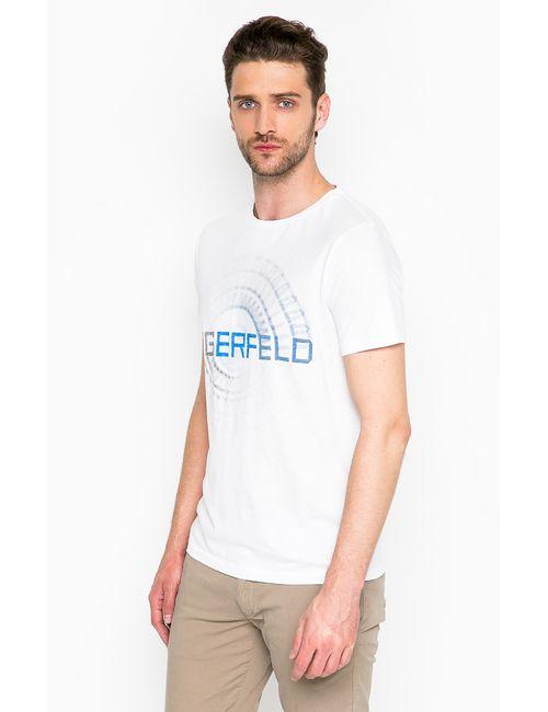 Lagerfeld | Мужская Белая Футболка