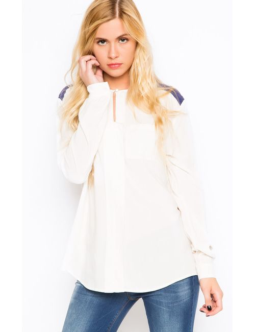 Liu •Jo Jeans | Женская Белая Блуза Liu Jo Jeans