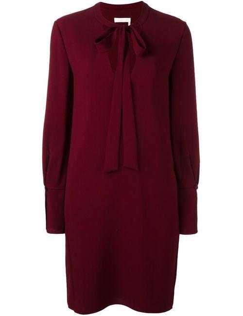 Chloe | Женское Красное Платье С Завязками