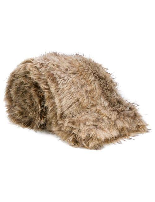 Liska   Nude/Neutrals Raccoon Fur Blanket