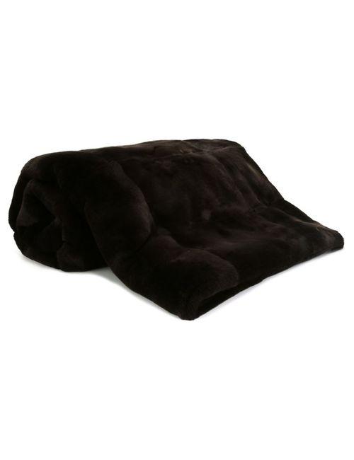 Liska | Коричневый Rabbit Fur Blanket