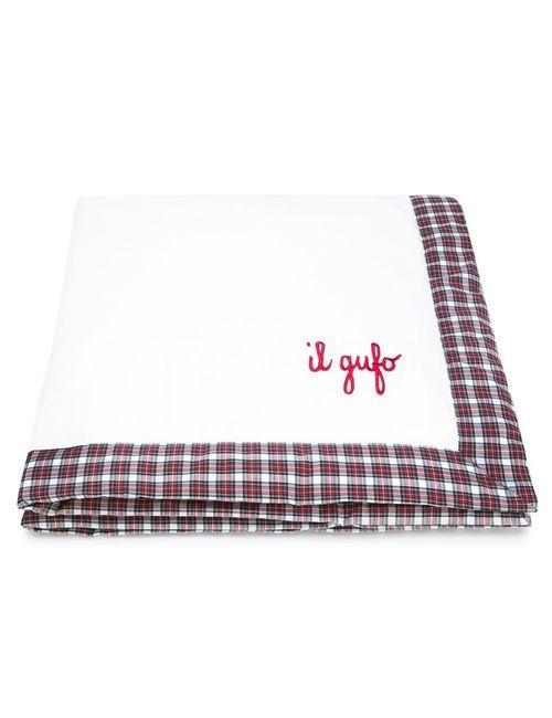 Il Gufo   Белый Tartan Trim Blanket