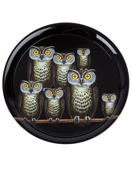 FORNASETTI | Чёрный Owl Tray