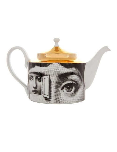 FORNASETTI | Белый Printed Porcelain Tea Pot