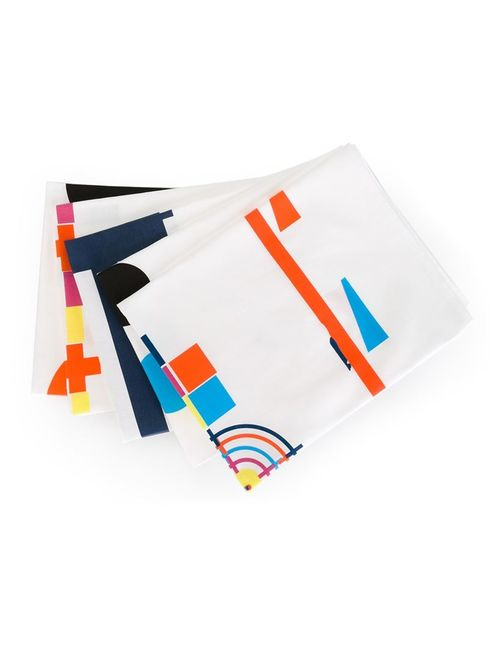 HOUSE OF VOLTAIRE | Белый Peter Saville Tea Towel Set