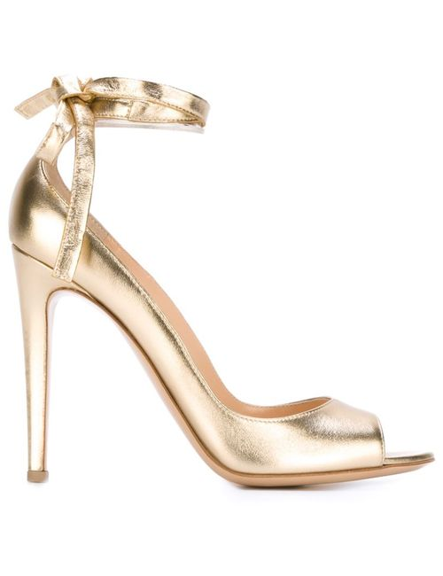 Gianvito Rossi | Серебристый Tie Fastening Pumps 41 Leather