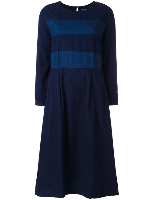Blue Blue Japan | Синий Striped Dress Medium Cotton