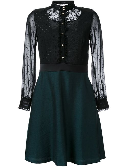 LOVELESS | Женское Чёрный Flared Shirt Dress 34 Polyester